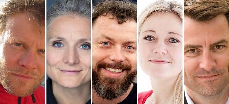Storm Stensgaard, Pia Hauge, Anders Colding-Jørgensen, Anette Prehn og Mikael Kamber
